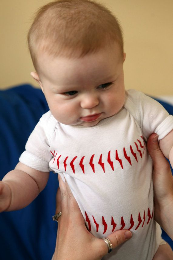 my future baby will have this hahaha Baseball Onesie Newborn ShortSleeve by TheGALShop on Etsy, $15.00