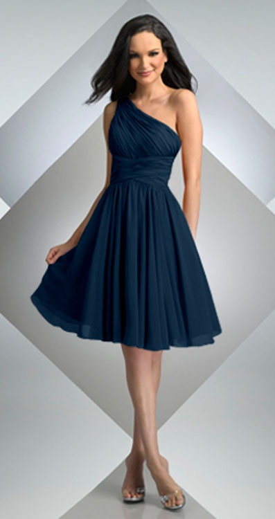 navy blue dress for wedding bari 230 one shoulder dress navy on 6115