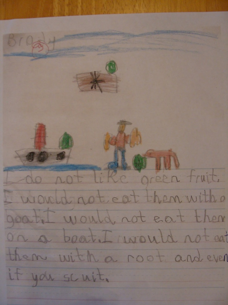 Student write about green food they don't like. - Re-pinned by #PediaStaff.  Visit http://ht.ly/63sNt for all our pediatric therapy pins