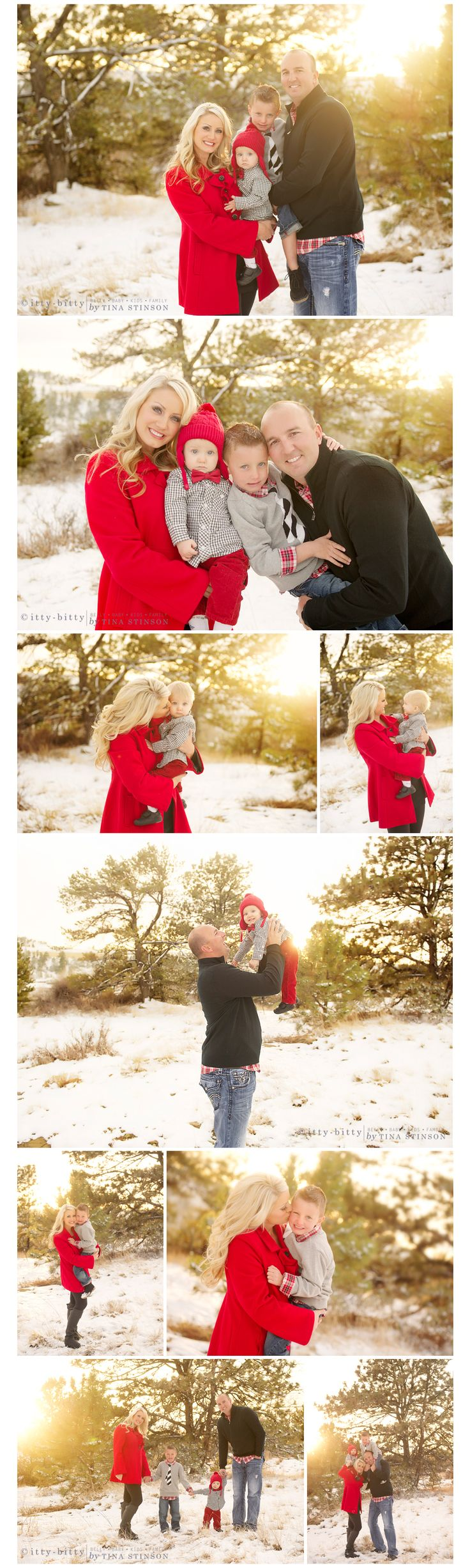 Outdoor winter family... I must get a red jacket