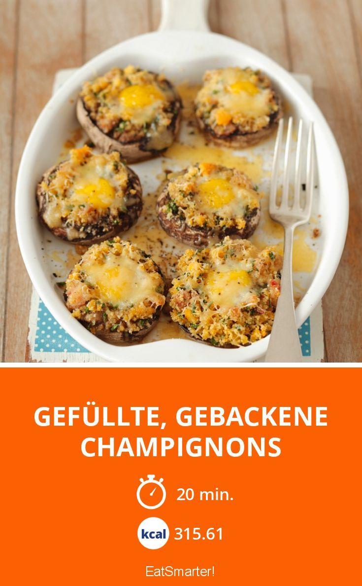 Gefüllte, gebackene Champignons - smarter - Kalorien: 315.61 kcal - Zeit: 20 Min. | eatsmarter.de
