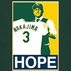 Oakland Baseball Hope Japan Hiroyuki Nakajima T Shirt