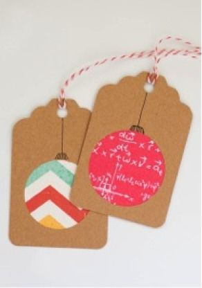 Awesome homemade gift tags.