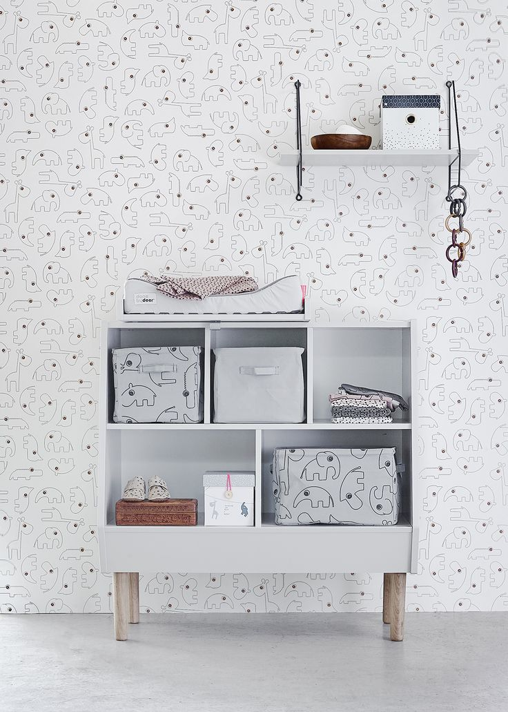 Create a cozy and practical changing station by adding the top changer to the storage rack, which offers plenty of space. When the changing table, has been outgrown, the rack will find the perfect use for storing toys and books.  The best from the past combined with a modern Scandinavian feel of today – 'little interiors' by Done by Deer is a new line of furniture for the modern nursery designed and made in Denmark.