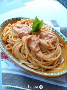 spaghetti al pesto di pomodori - nella cucina di laura