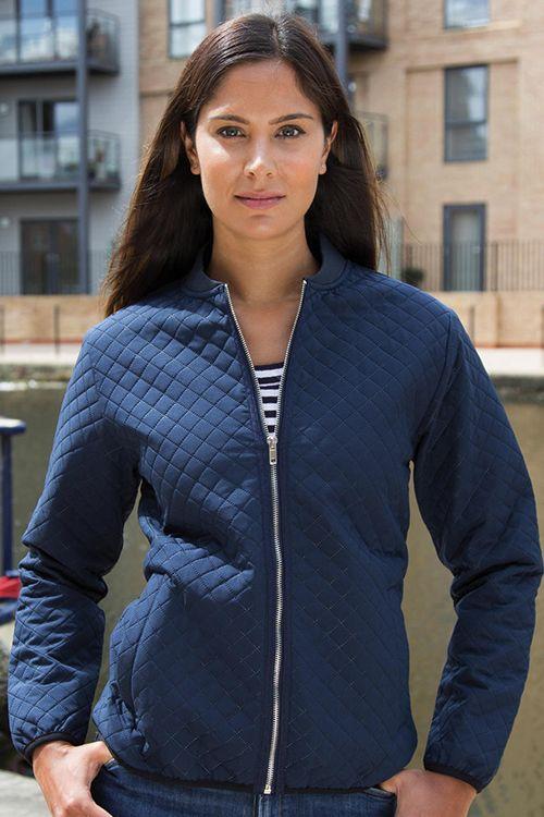 Jachetă Softshell damă Bomber Result Urban, rezistentă la apă și de vânt, slim fit, designul matlasat cu cusături în formă de diamant #broderie #softshell #personalizate