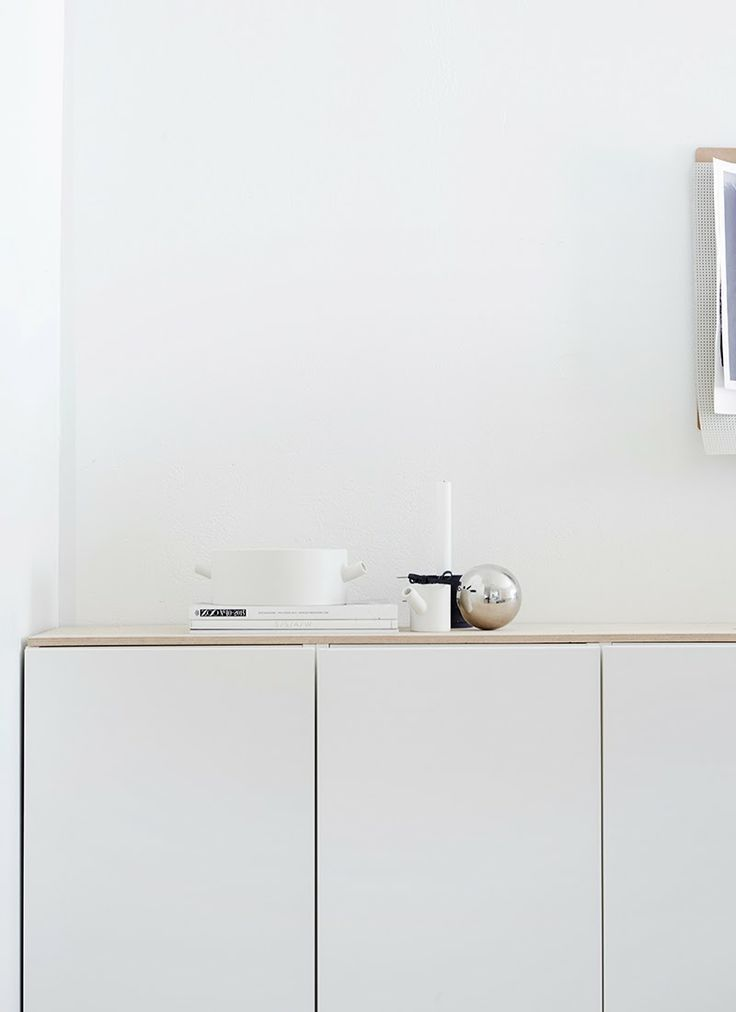 a wooden top: a simple way to upgrade cheap white plywood furniture