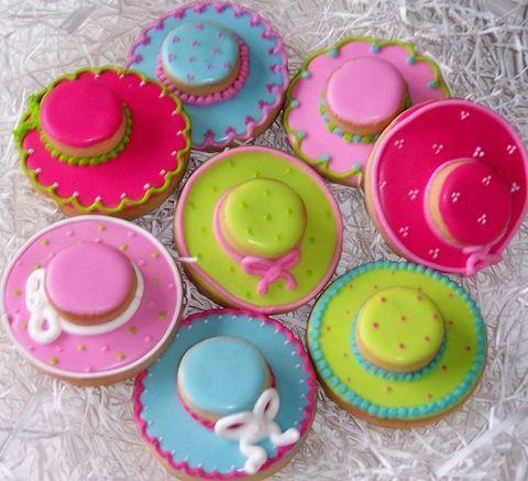 Tea party hat cookies
