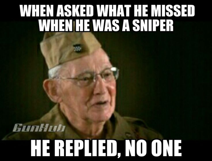 What do you miss about being a sniper