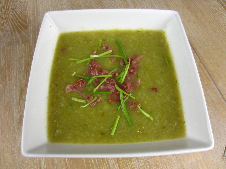 Potato Leek Soup with Crispy Bacon