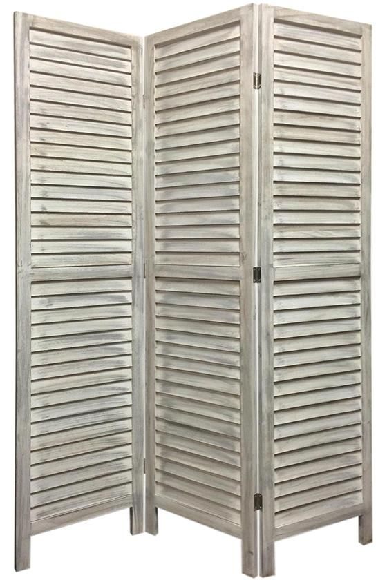 Shutter Screen - Room Dividers - Room Partitions - Privacy Screen - Folding Screen - Three-panel Screen | HomeDecorators.com