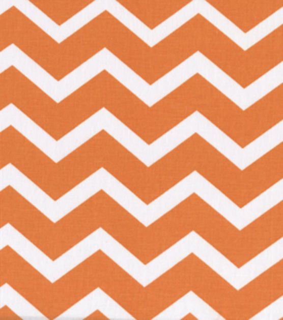 Keepsake Calico Fabric-Orange & White Chevron, , hi-res