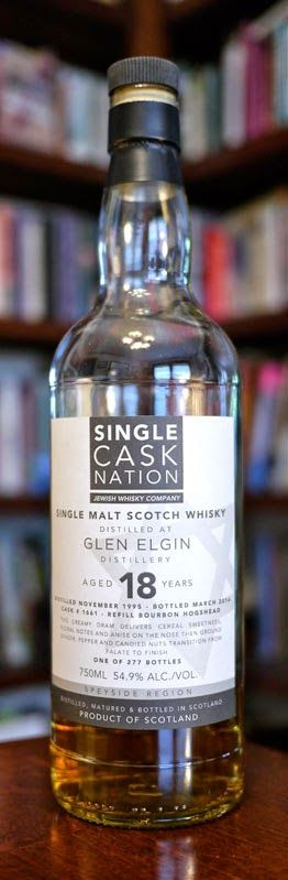 The Single Cask Nation Glen Elgin 18 Year Old Single Malt Scotch Whisky