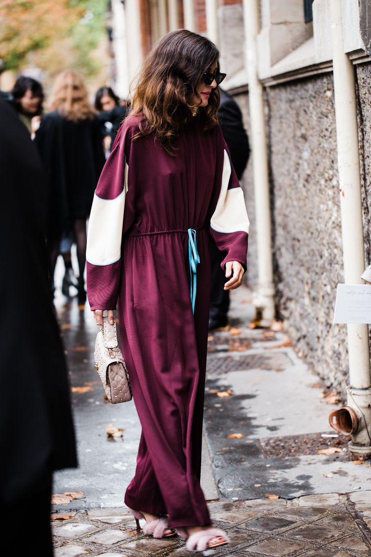 Influencer Eleonora Carisi outside the Valentino show