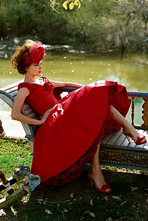 """""""Someday, you'll drop dead and I'll come to your funeral in a red dress.""""  Cher, Moonstruck"""