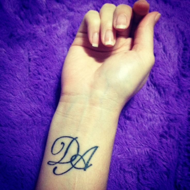 my first tattoo sisters tattoo d a stands for all our
