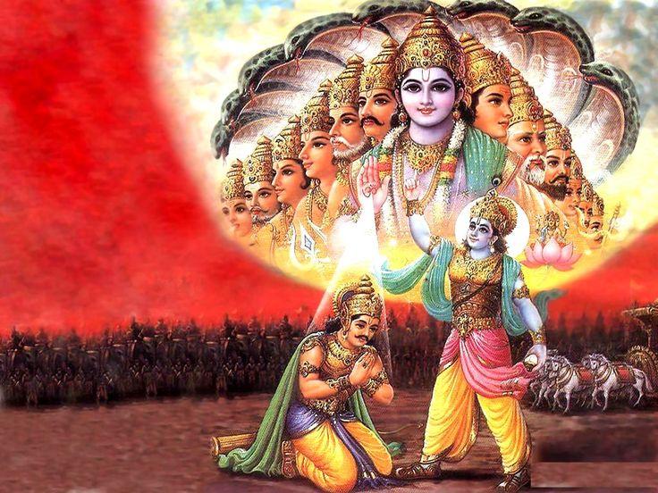 Arjun and Krishna