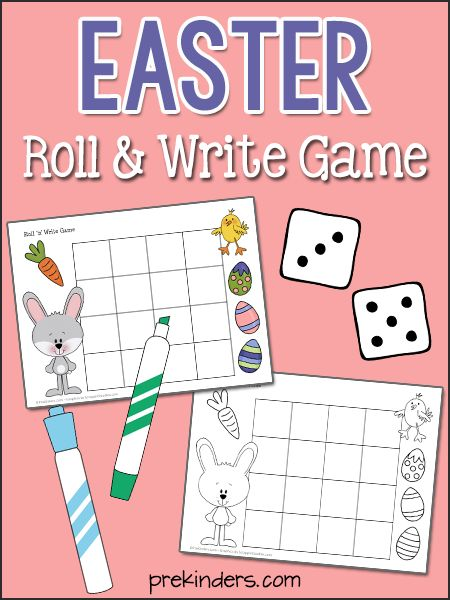 Easter Roll & Write Game