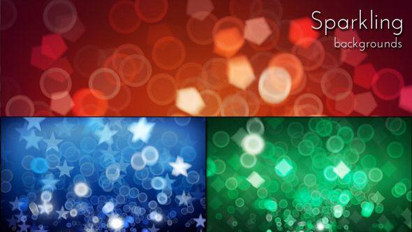 Festival Sparkling Lights Bokeh Backgrounds