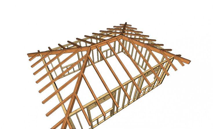9 best hip roof design images on pinterest hip roof for Hip roof advantages and disadvantages