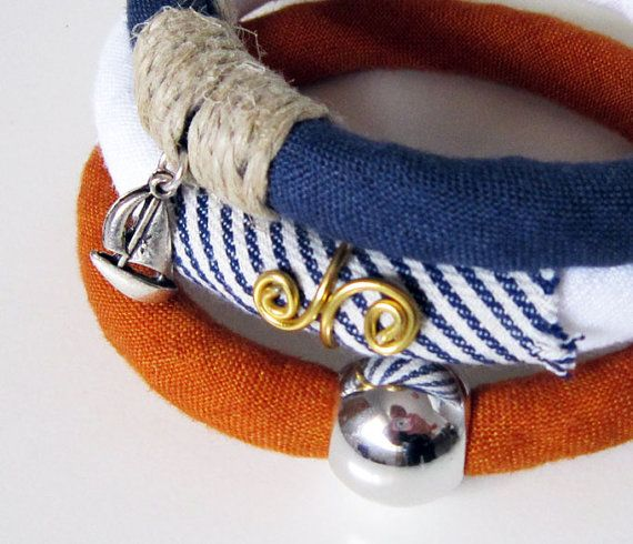 Fibre bracelet set of 3  recycled unique design eco by Bagglz, €29.70