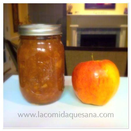 Puré de manzana casero (hecho en olla eléctrica de cocción lenta - Slow Cooker ó Crock pot).