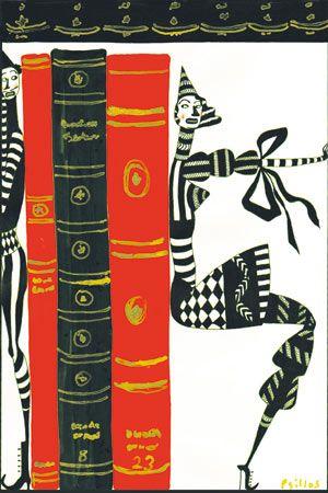 .Book Art, Bookish Whimsy, De Demetrios, Demetrios Psillo, Libros Ilustración, Illustration, Book, Books Books Book, Soportando Los