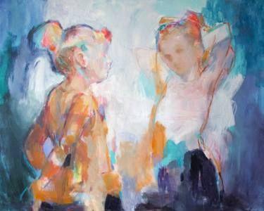 "Saatchi Art Artist Fernanda Cataldo; Painting, ""Azul and Turquoise"" #art"