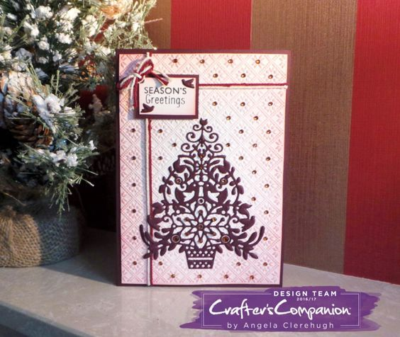 "5"" x 7"" Card made using Sara Signature Scandinavian Christmas Collection – Designed by Angela Clerehugh #crafterscompanion"