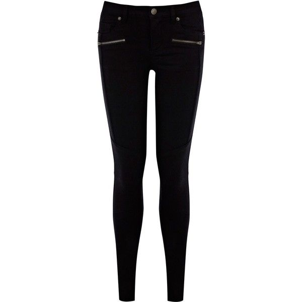 Warehouse Quilted biker jean (53 AUD) ❤ liked on Polyvore featuring jeans, pants, bottoms, calças, pantalones, black, warehouse jeans, black jeans, biker jeans and black skinny jeans