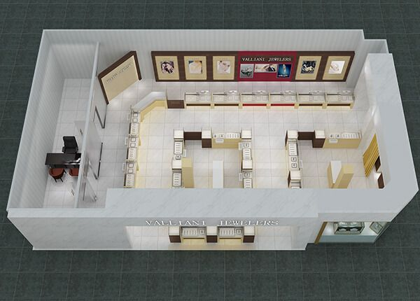 3d Jewellery Shop Layout And Display Showcases