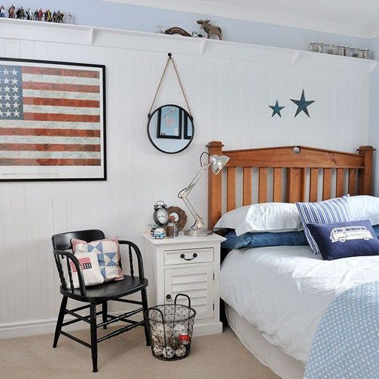 Boy s bedroom   New England style home   House tour   PHOTO GALLERY   Ideal. 17 Best ideas about New England Bedroom on Pinterest   Nautical