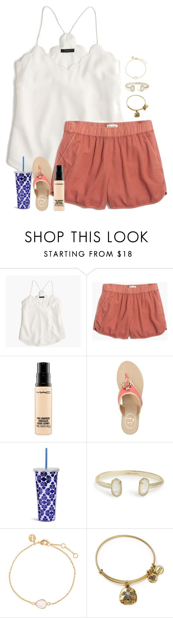 """""""Saturday """" by madelyn-abigail ❤ liked on Polyvore featuring J.Crew, Madewell, MAC Cosmetics, Jack Rogers, Vera Bradley, Kendra Scott, Accessorize and Alex and Ani"""