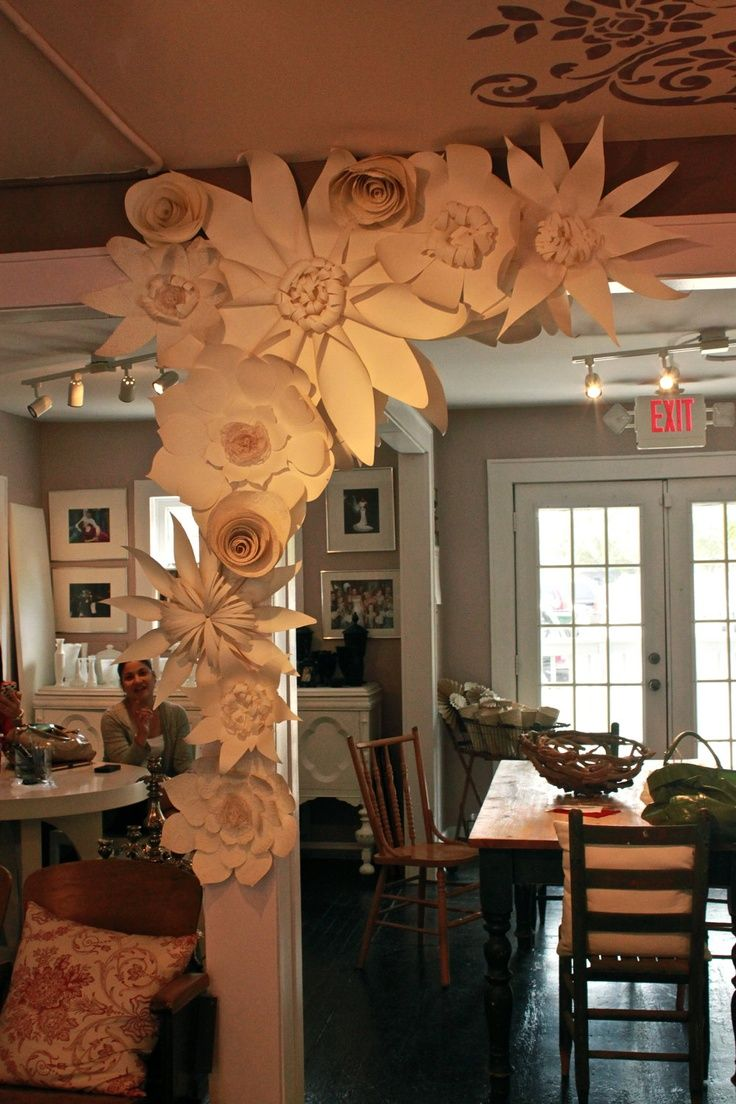 paper flowers for the wall - I was thinking for above the crib in a cluster