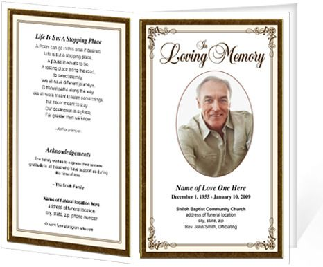 12 best Funeral Programs images on Pinterest Program template - free template for funeral program