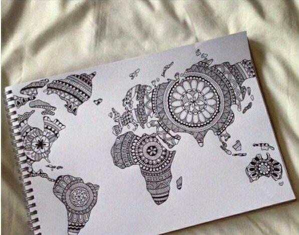 Carte du monde. #New