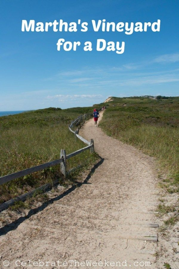 Family vacationers visit Martha Vineyard on a day trip from Hyannis, Cape Cod