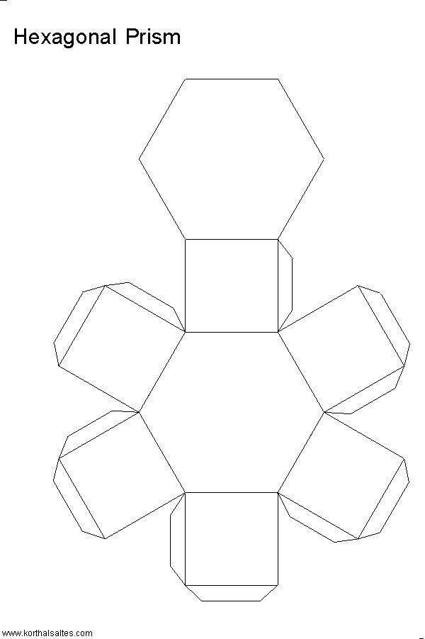 Net hexagonal prism