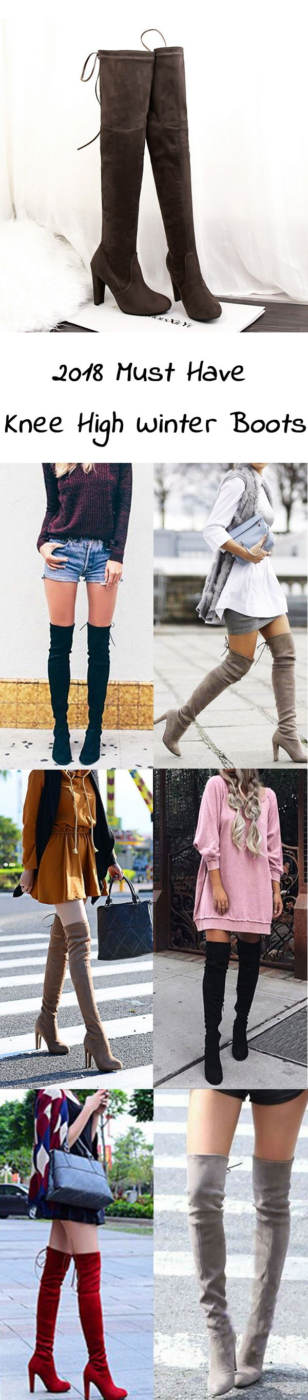 US$18.71  European Style Suede Sexy Over The Knee Thigh High Heels Party Boots