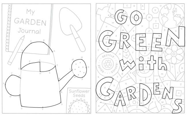 COLOR & GARDEN Activity Book with 50 Stickers! by: Monica