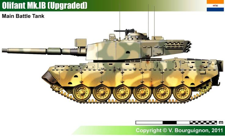 Olifant-Mk1B ,The Olifant mk1B main battle tank was Centurion tanks redesigned and rebuilt by the Olifant Manufacturing Company, OMC Engineering pty Ltd, based in South Africa. Development of the Olifant started in 1976 and first entered service with the South African Armoured