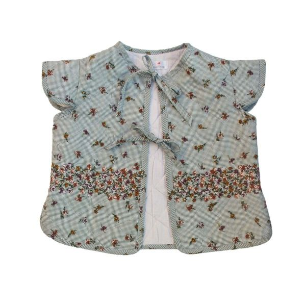 Mákvirág — Quilted vest flower pattern