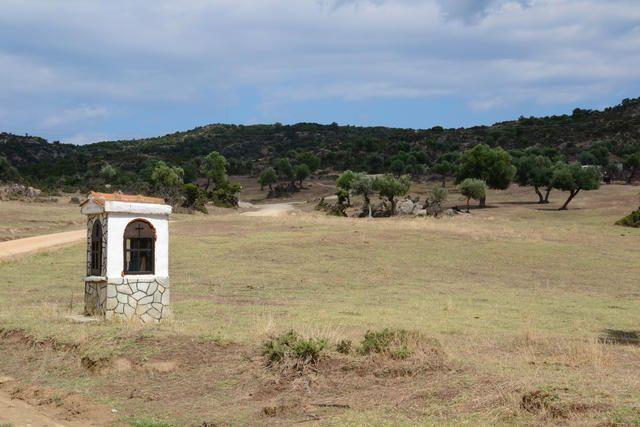 Die Hochebene Sykia im Süden von Chalkidiki Sithonia