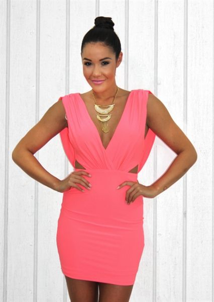 Don't Look Back Dress in Coral - Shugah Boutique