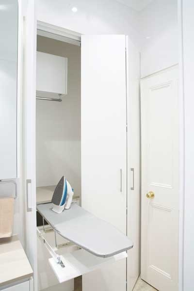 Laundry - Provincial Kitchens Sydney    pull out ironing board