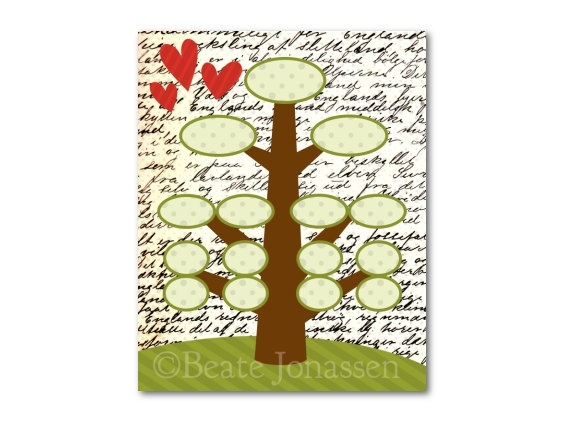 Printable Family Tree Wall Art by CuteMemories on Etsy, $8.00