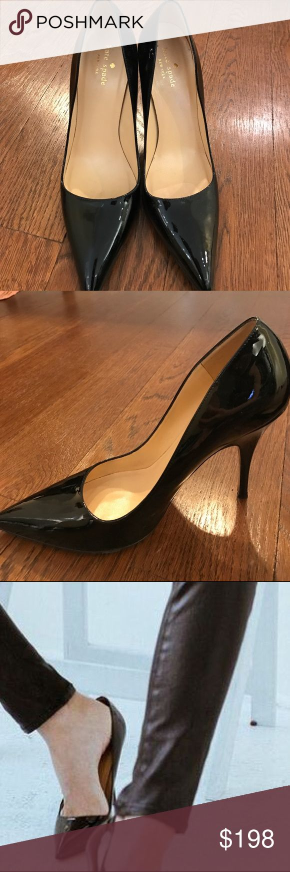 Kate Spade Patent Leather Shoe Black Kate Spade Heel (size 9.5) Patent leather LICORICE heels. Worn Once for a photo shoot. kate spade Shoes Heels