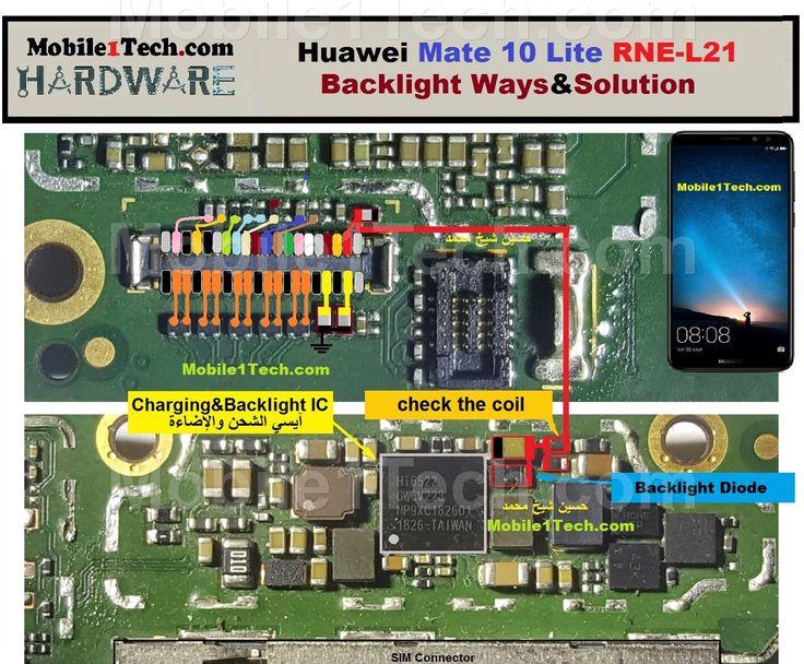 Huawei mate 10 lite cell phone screen repair light problem