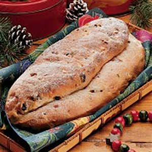 German Stollen - this recipe looks close to what I remember Mom making... not too much of that candied fruit.