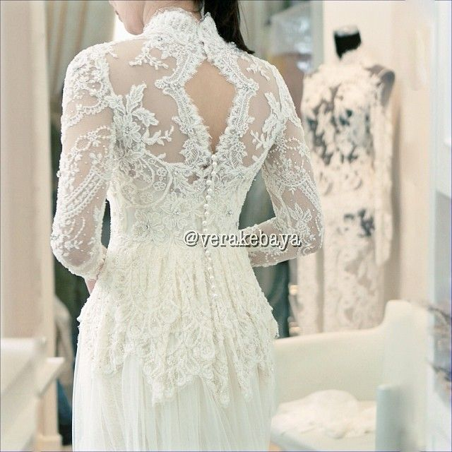 Wedding gown kebaya version